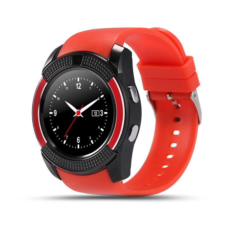 v8 red watch phone