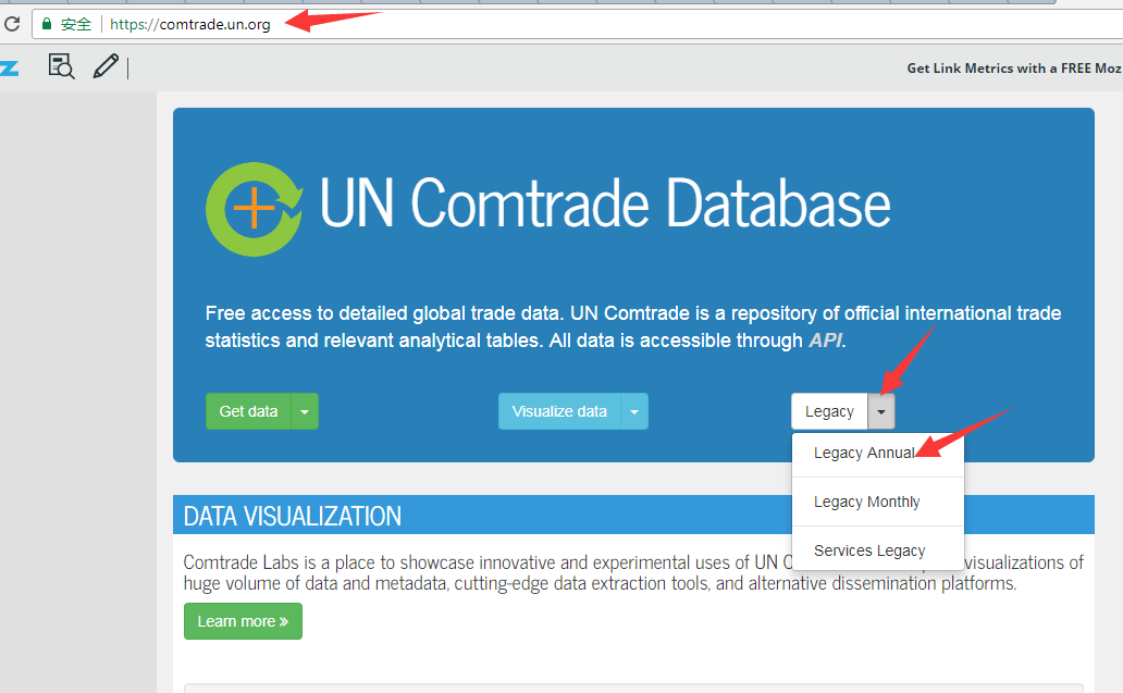 Un comtrade database legacy