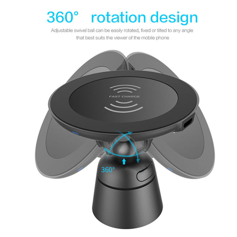 360 rotation stand QI charing for phone